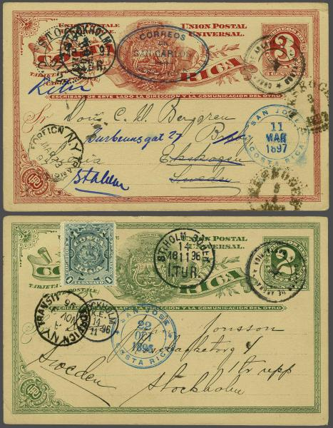 Lot 3404 - Overseas Costa Rica -  Corinphila Auction AG Auction Series 257-264 in Zurich Day 1