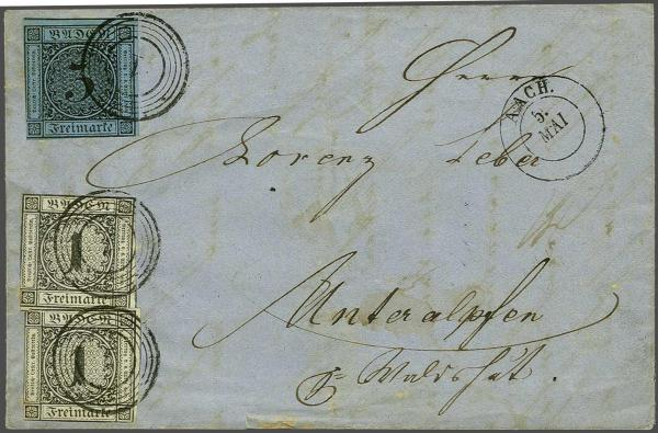 Lot 261 - germany Baden -  Corinphila Auction AG Auction Series 257-264 in Zurich Day 3