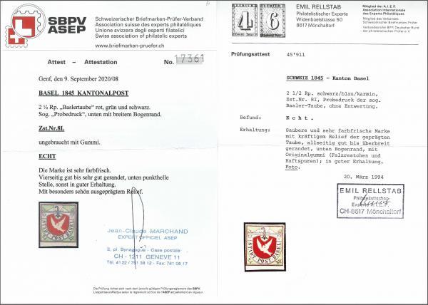 Lot 8009 - schweiz basel -  Corinphila Auction AG Auction 265th - 273rd - Day 6