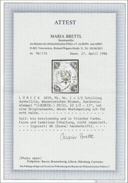 Lot 937 - deutschland lübeck -  Corinphila Auction AG Auction 265th - 273rd - Day 5