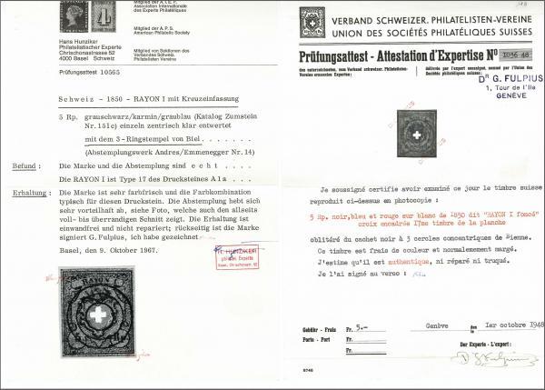 Lot 8024 - schweiz Rayon I dunkelblau -  Corinphila Auction AG Auction 265th - 273rd - Day 6