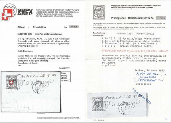 Lot 8014 - schweiz Bundesmarken -  Corinphila Auction AG Auction 265th - 273rd - Day 6