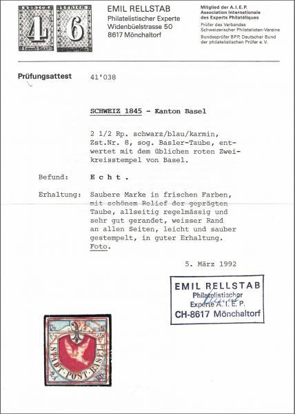 Lot 8010 - schweiz basel -  Corinphila Auction AG Auction 265th - 273rd - Day 6