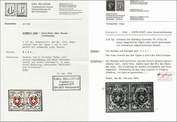 Lot 8016 - schweiz Bundesmarken -  Corinphila Auction AG Auction 265th - 273rd - Day 6