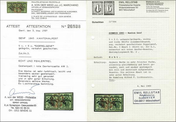 Lot 8005 - schweiz genf -  Corinphila Auction AG Auction 265th - 273rd - Day 6