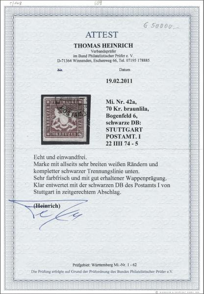 Lot 985 - deutschland Wurttemberg -  Corinphila Auction AG Auction 265th - 273rd - Day 5