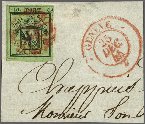 Lot 8006 - schweiz genf -  Corinphila Auction AG Auction 265th - 273rd - Day 6