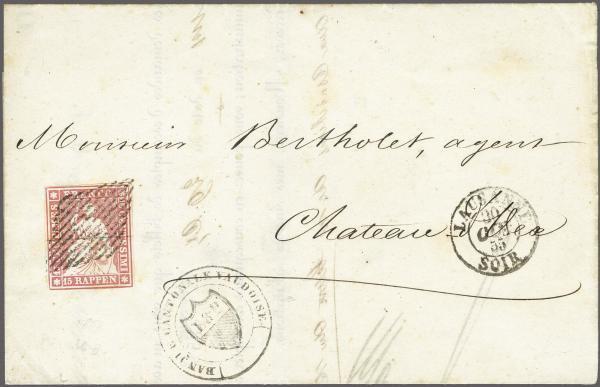 Lot 8515 - schweiz Sitz. Helvetia ungez. 'Strubel' -  Corinphila Auction AG Auction 265th - 273rd - Day 6
