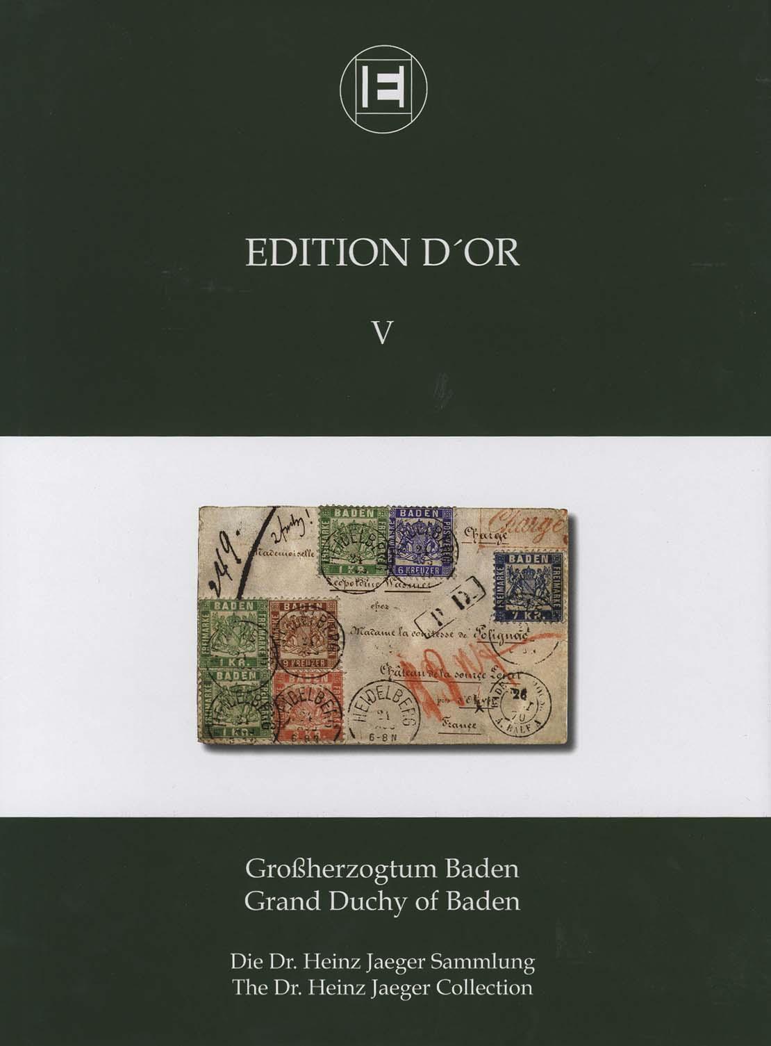 Band 5: Großherzogtum Baden • Die Dr. Heinz Jaeger Sammlung