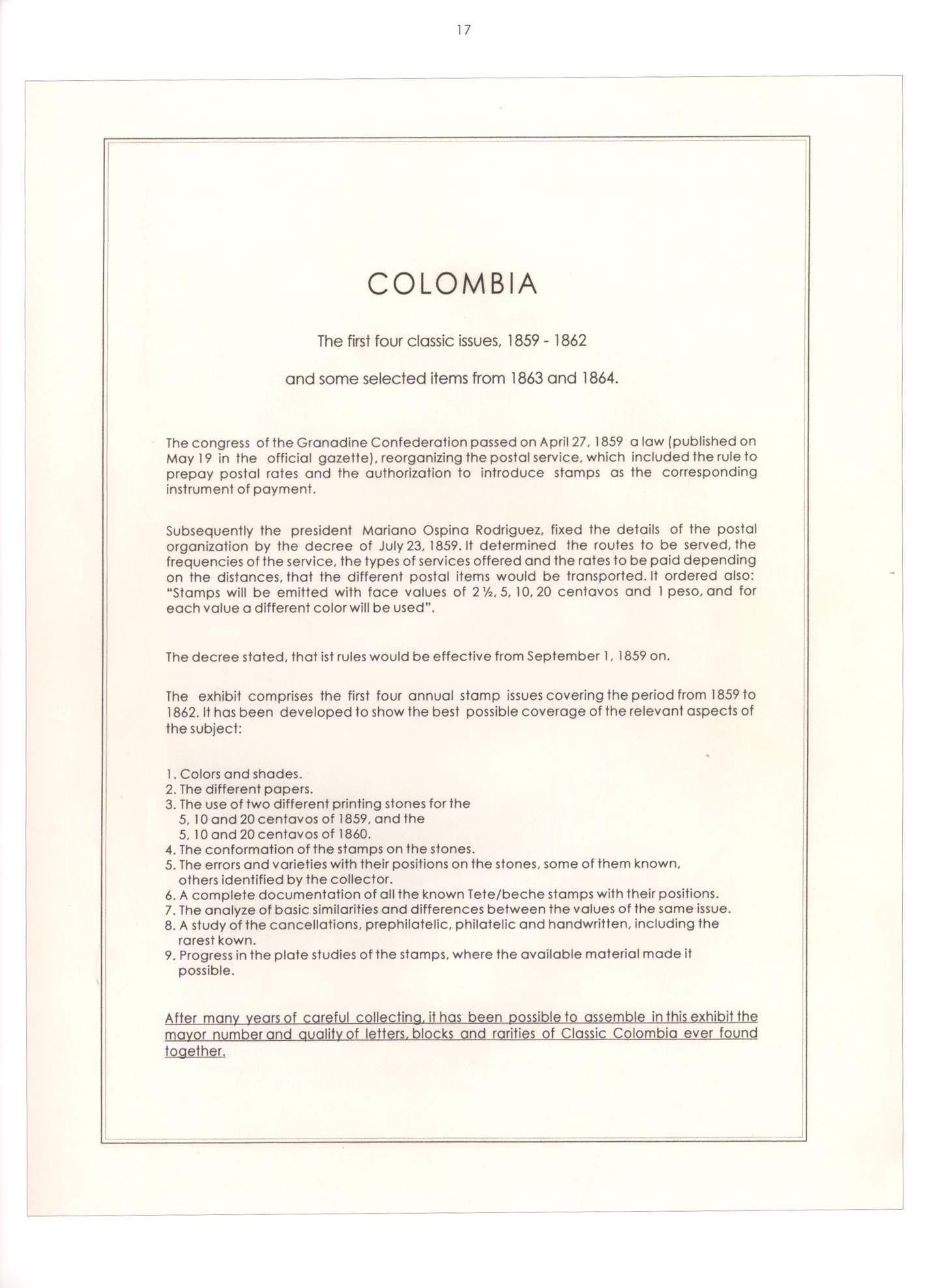 Vol. 35: Colombia 1859-1864 • The Dr. Hugo Goeggel Collection