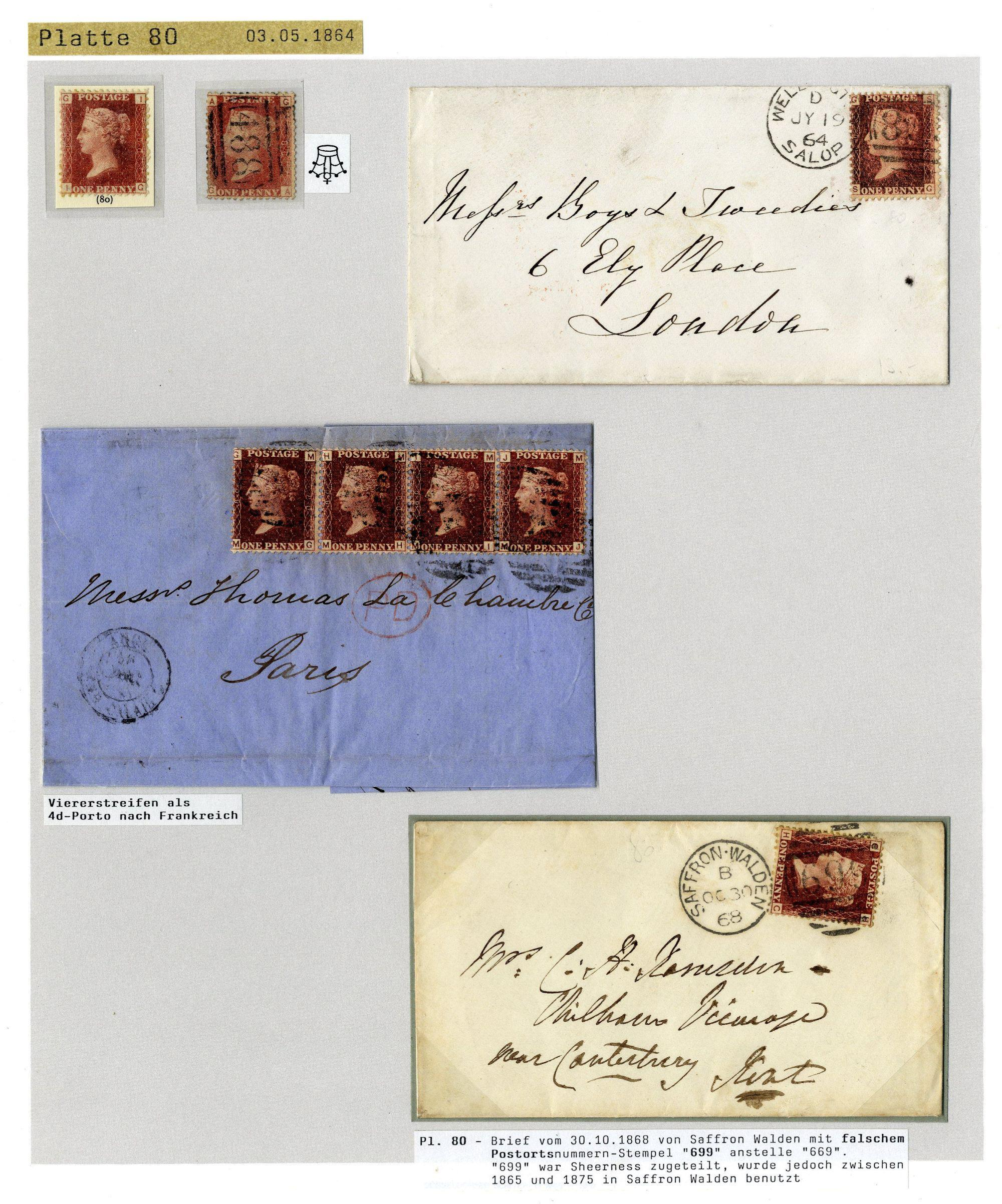 Private Treaty offer: GB 1864/80 1 d  rose red - Corinphila