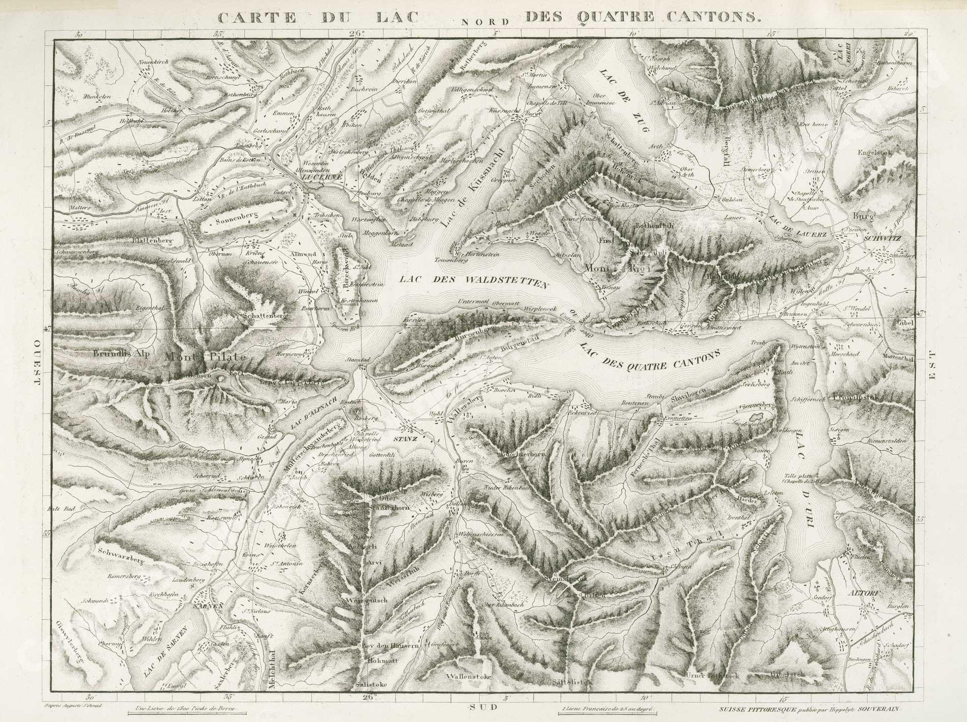 Die Innerschweiz / Karte
