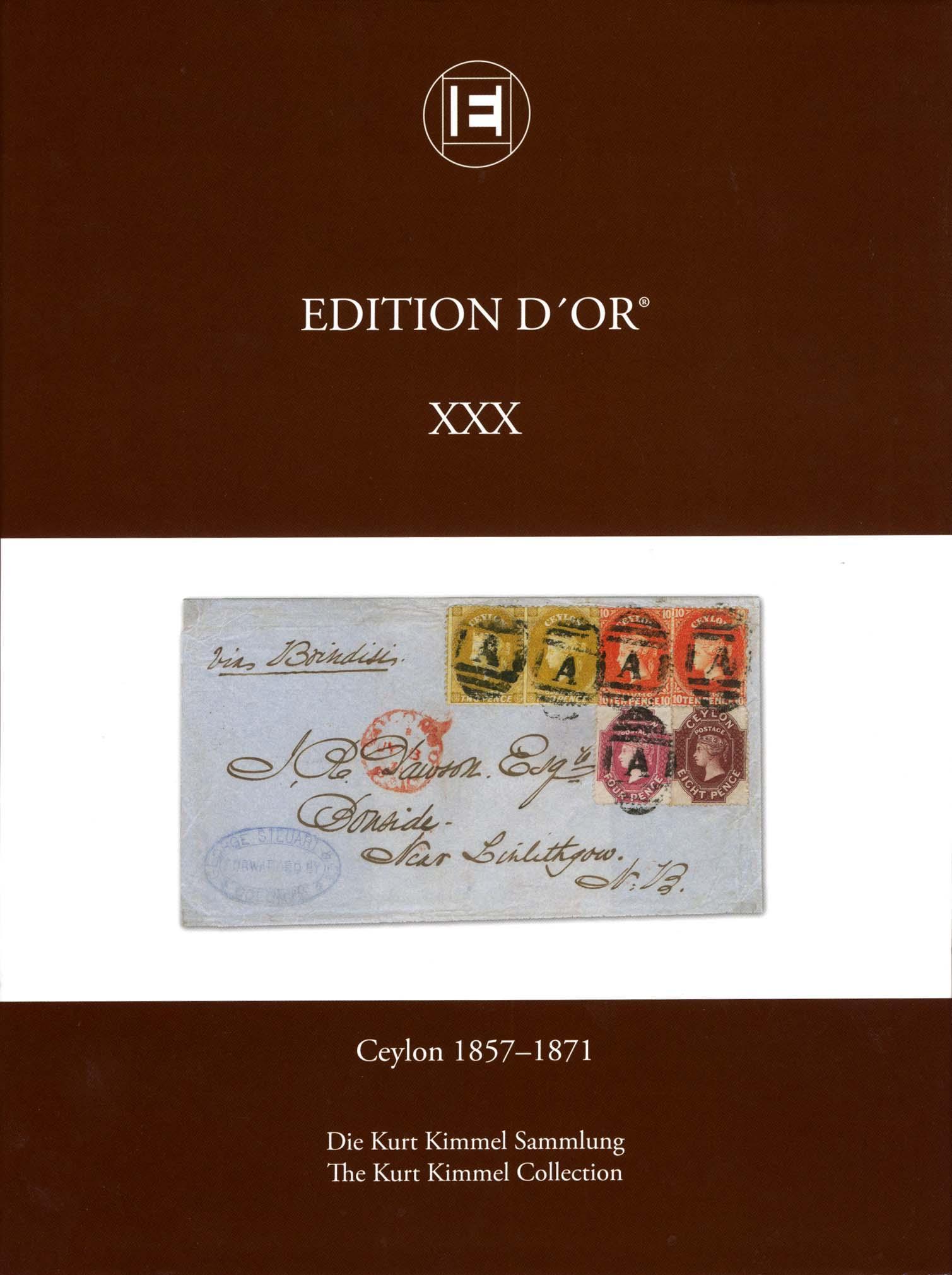 Vol. 30: Ceylon 1857-1871 • The Kurt Kimmel Collection