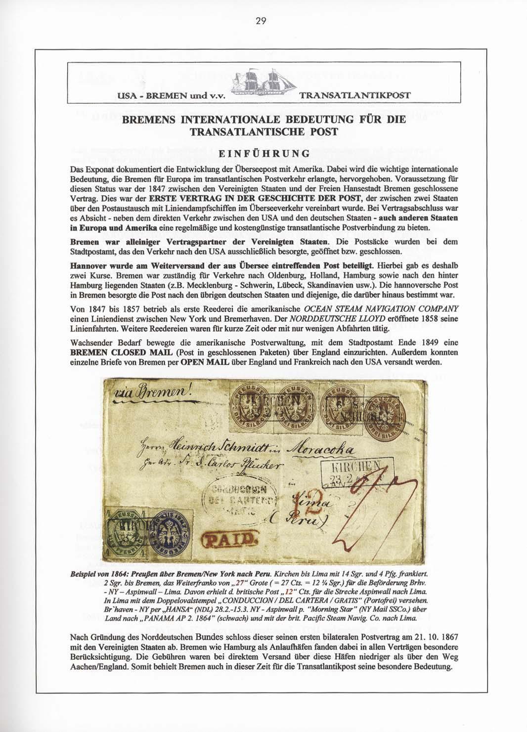Band 4: Transatlantikpost via Bremen • Die Georg D. Mehrtens Sammlung