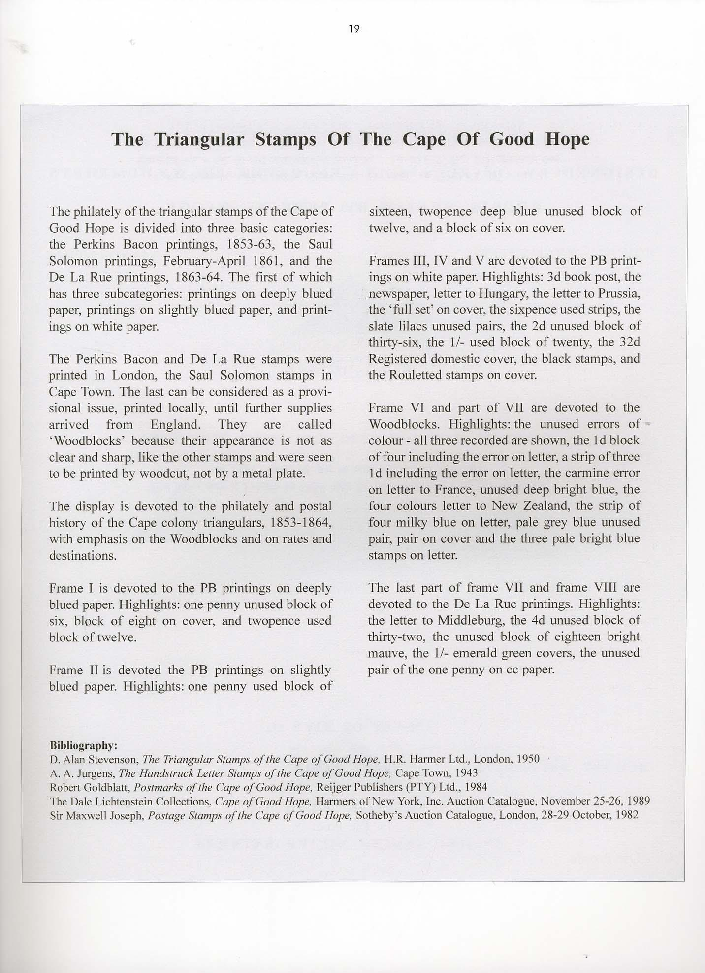 Vol. 22: Cape of Good Hope • The Joseph Hackmey Collection