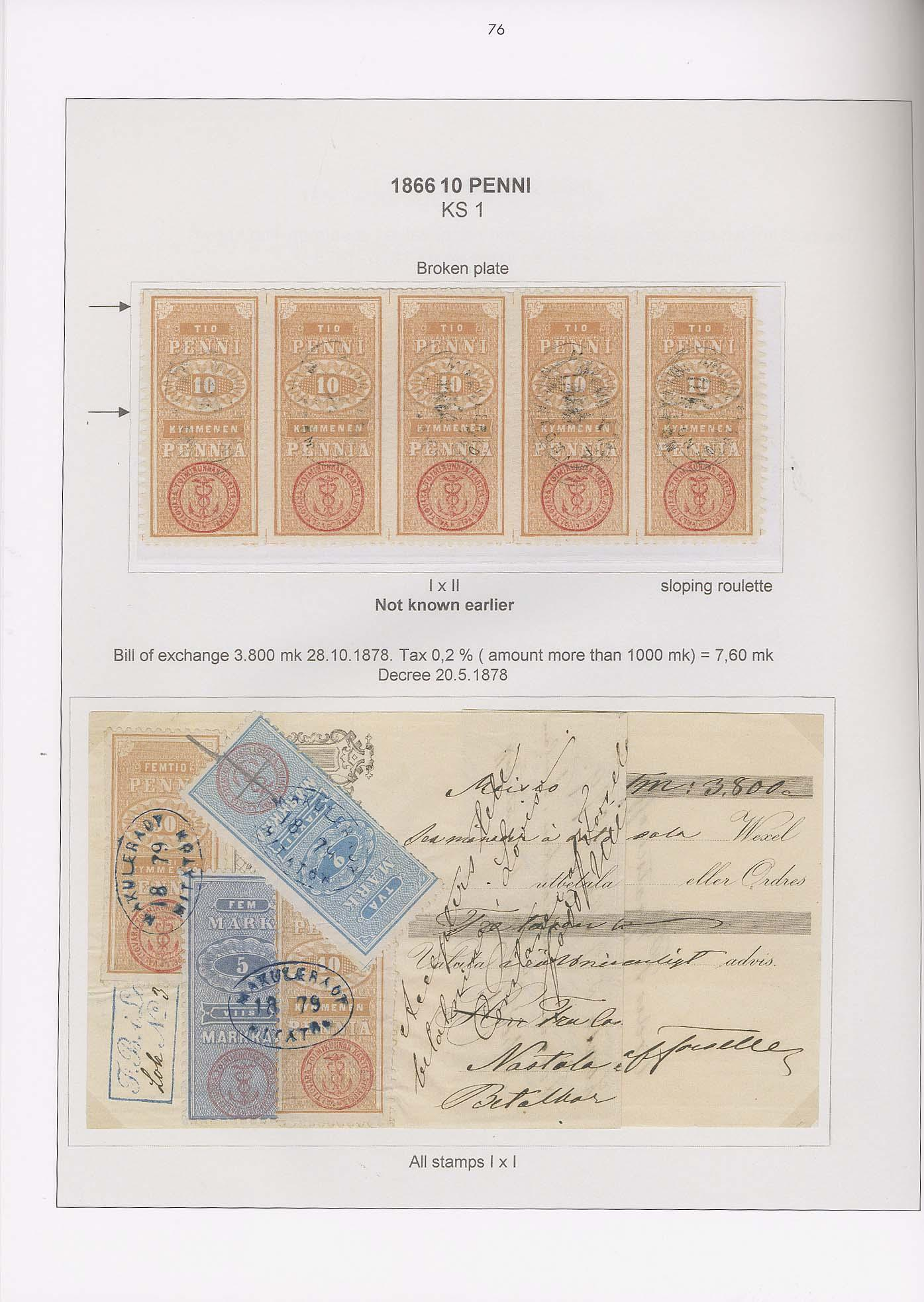 Vol. 15: Finland - Rouletted Revenue Stamps • The Jussi Tuori Collection