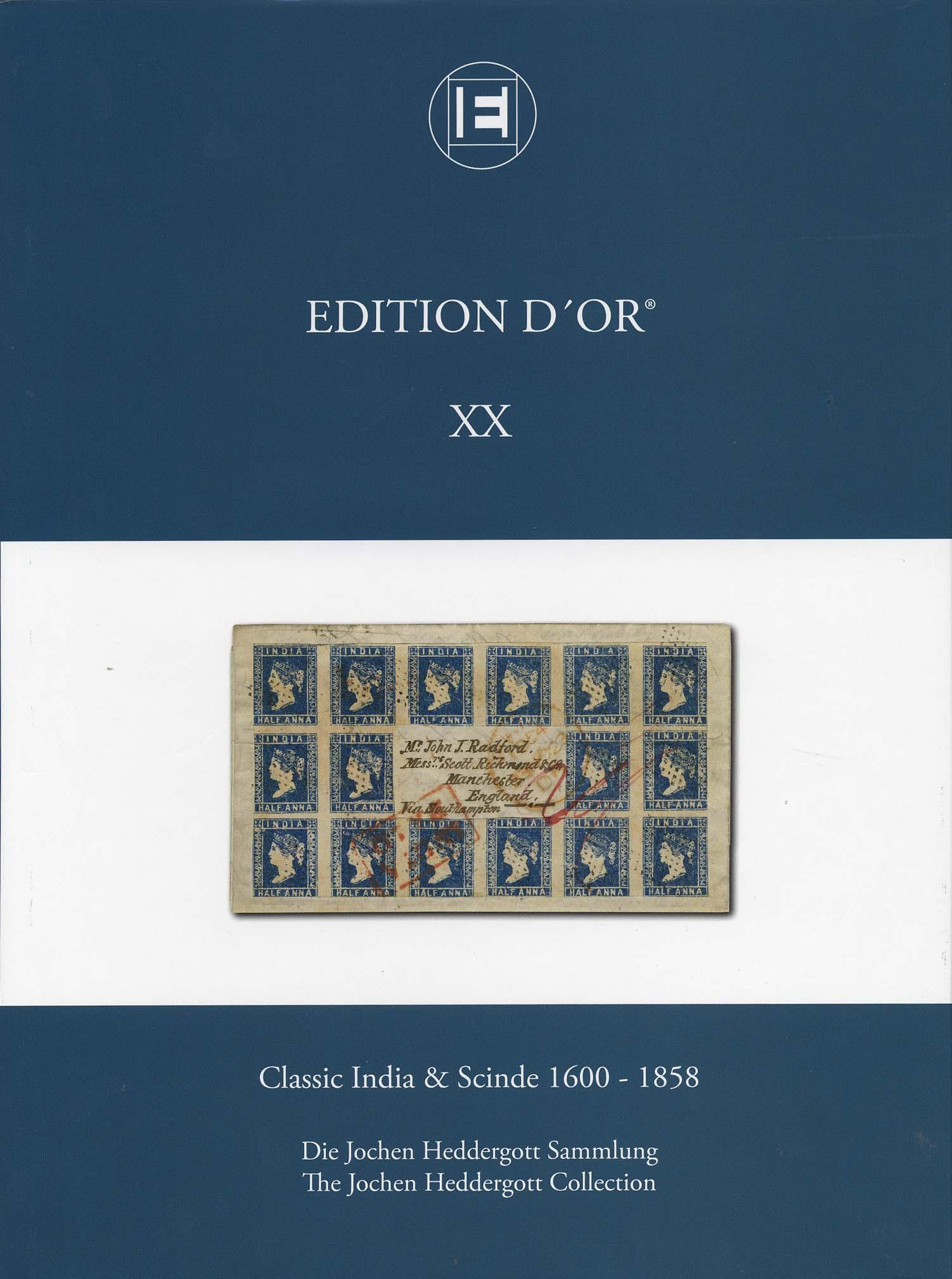 Vol. 20: Classic India & Scinde 1600-1858 • The Jochen Heddergott Collection
