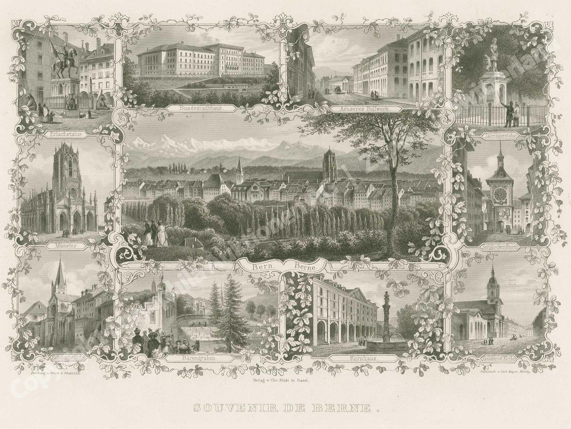 Bern, Karte