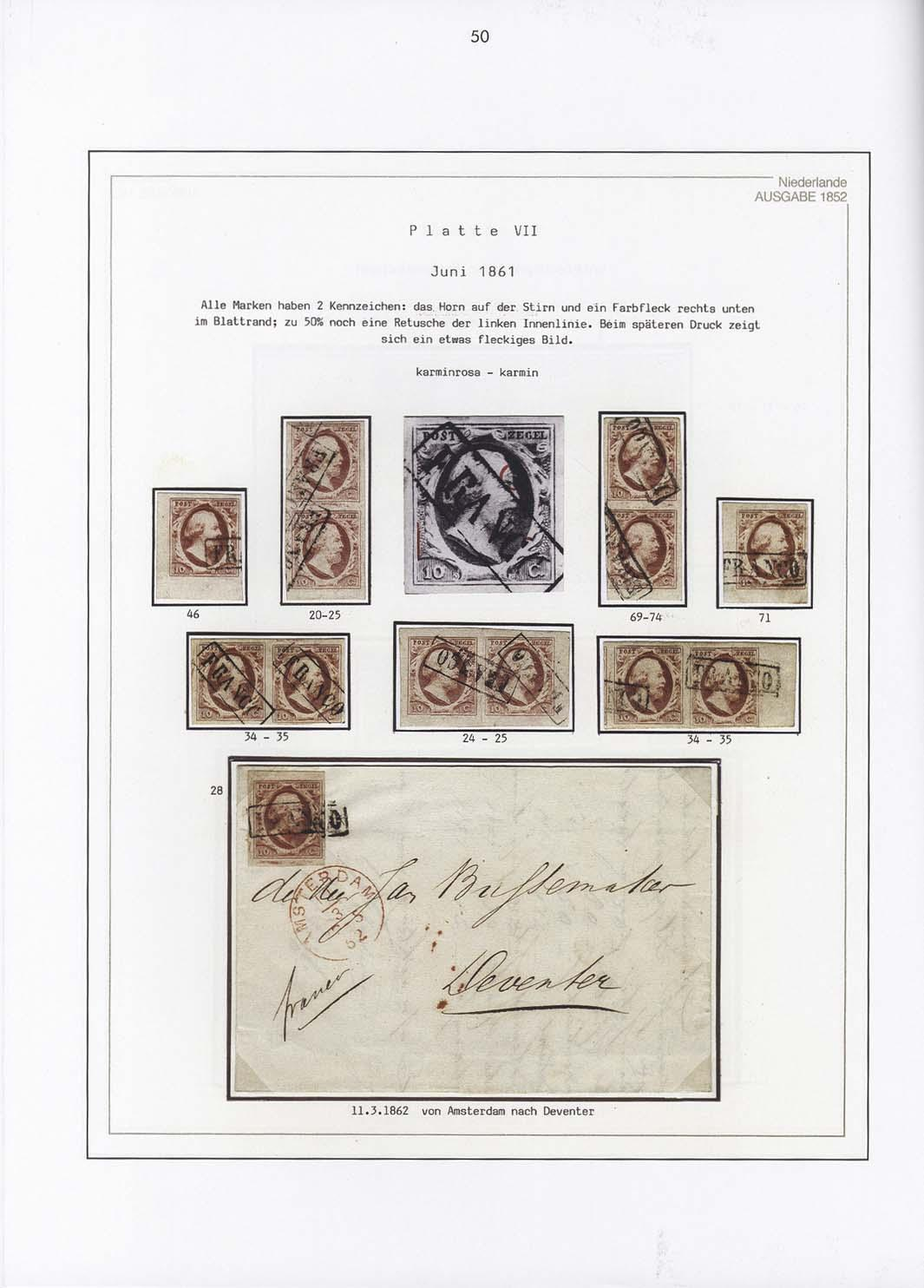 Vol. 1: Netherlands 1852 • The Dr. Albert Louis Collection