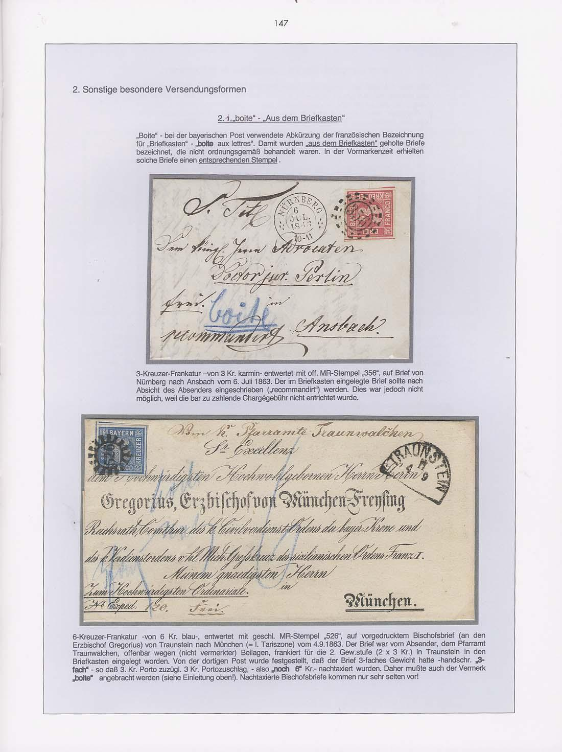 Vol. 17: Bavaria - Square Stamps Letter Mail • The Walter Hussnätter Collection