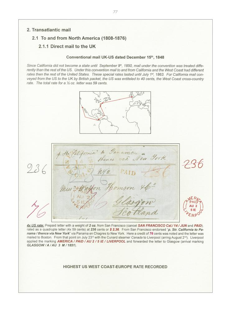 Vol. 52: Stampless Maritime Overweight Mail pre 1876 • The Paul Wijnants Collection