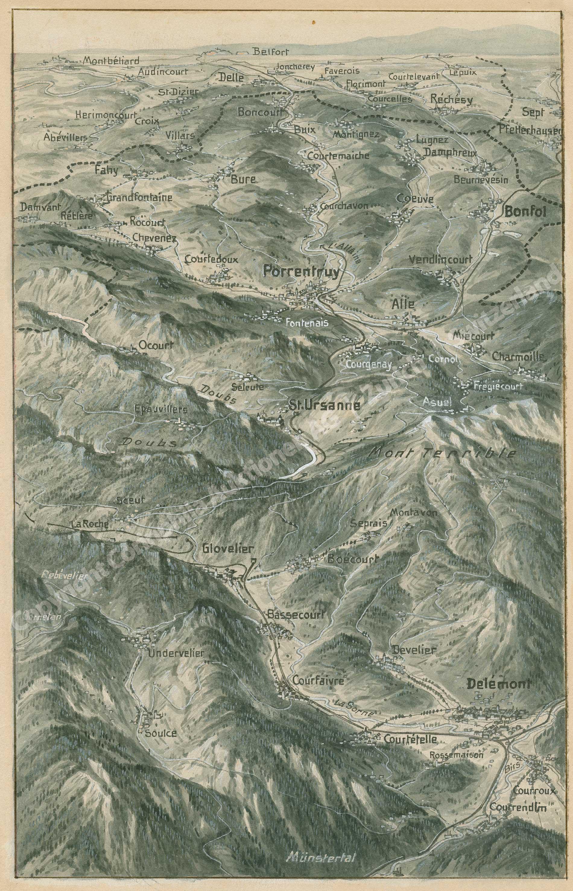Jura / Karte