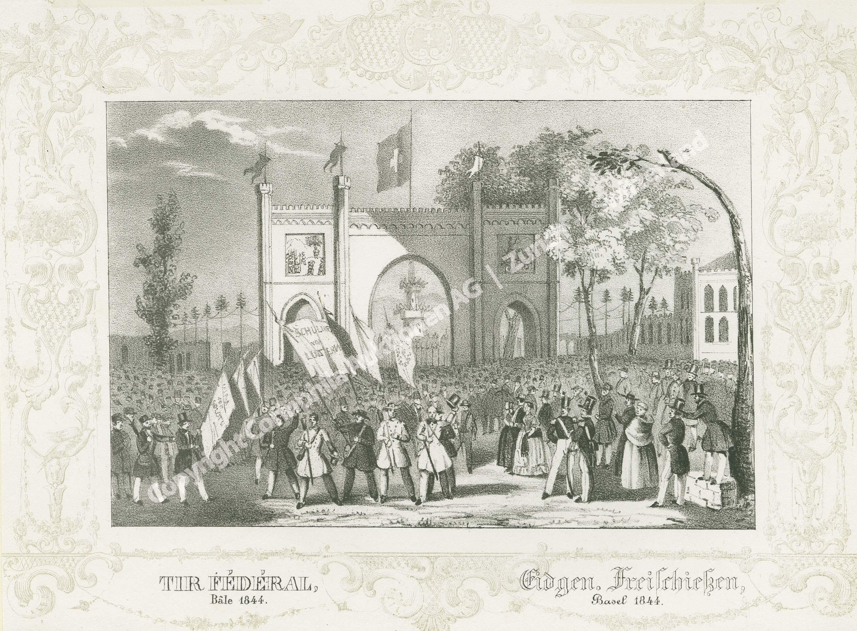 Basel, Schützenfest 1844