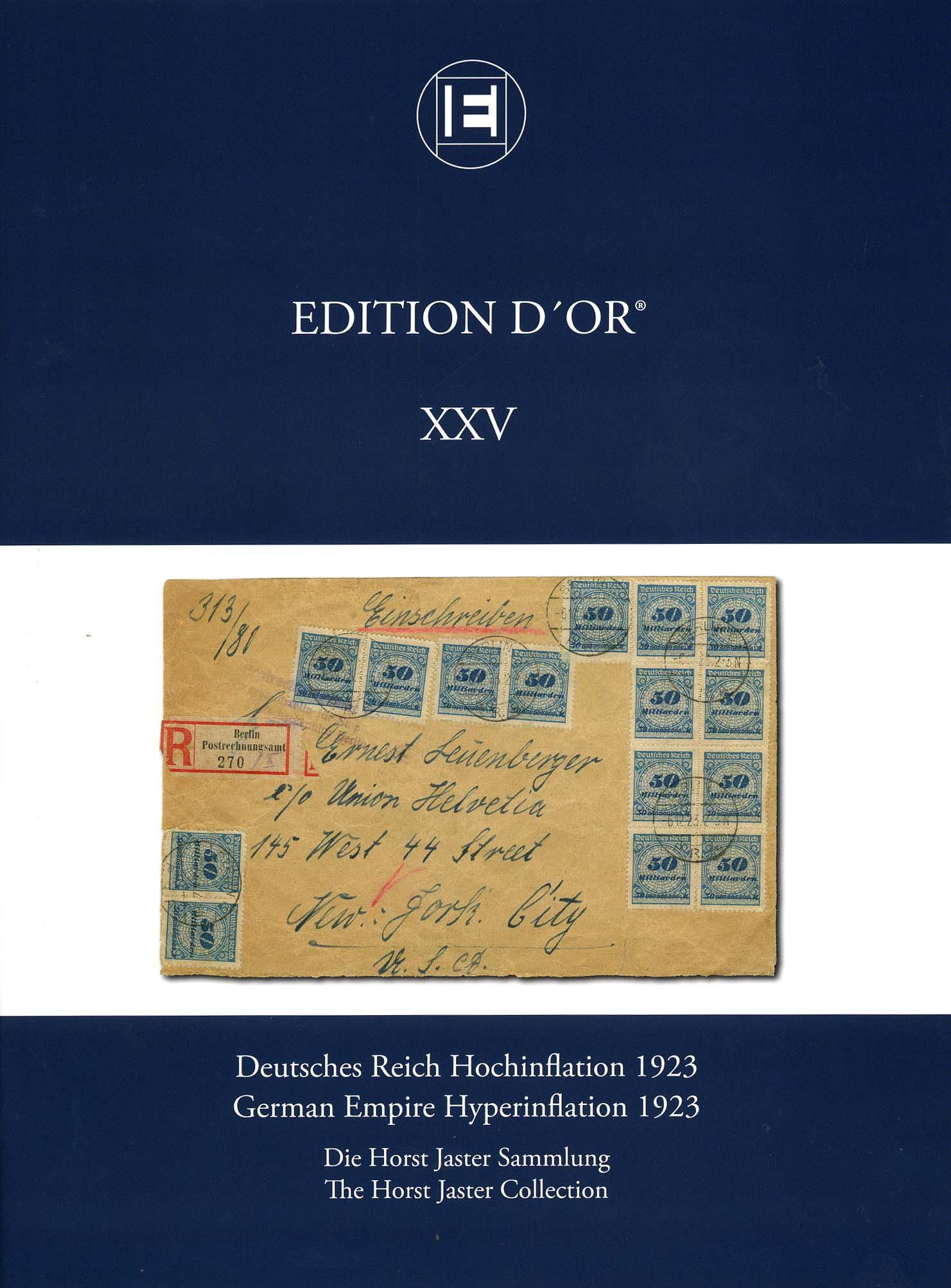 Vol. 25: German Empire Hyperinflation 1923 • The Horst Jaster Collection