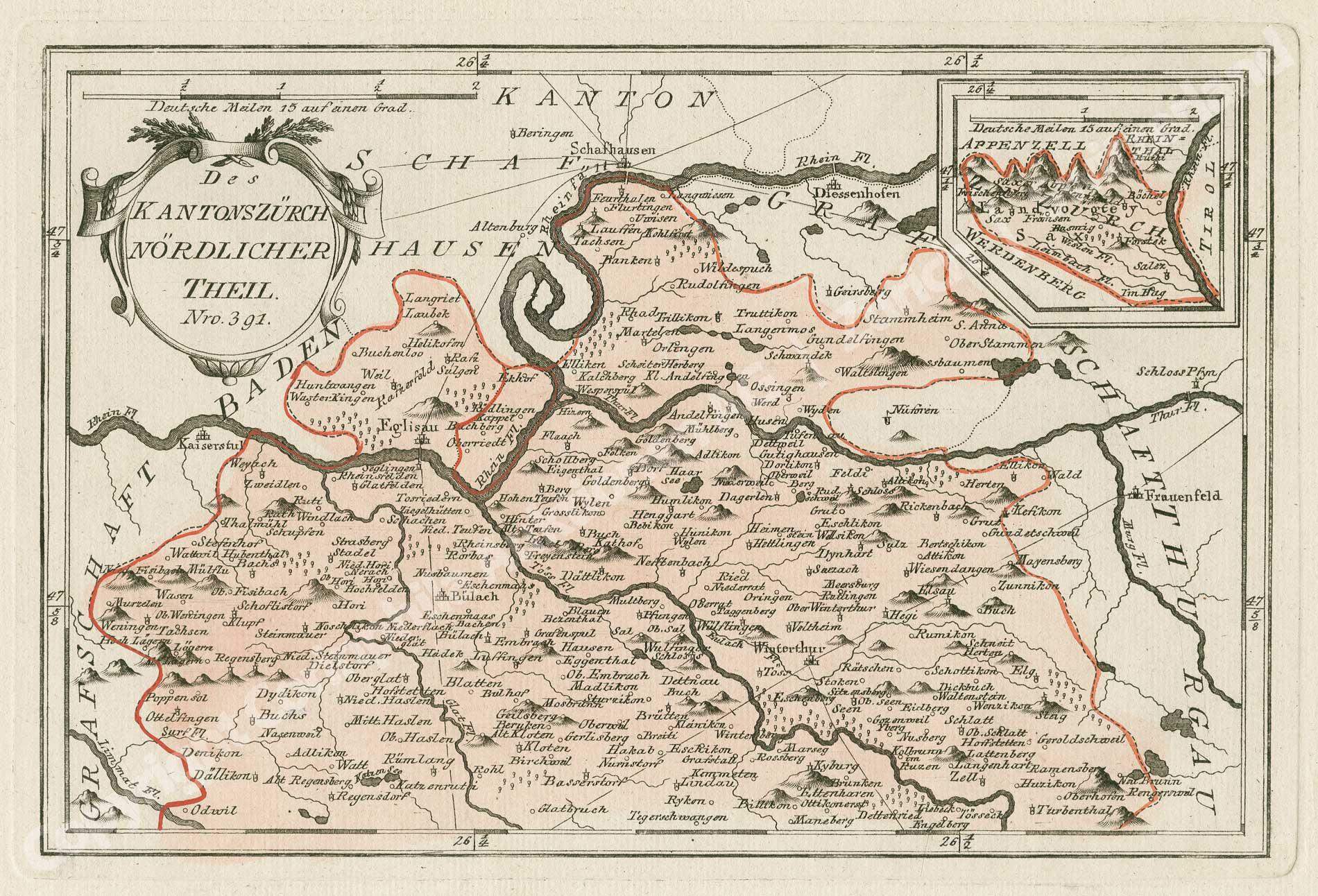 Kanton Zürich / Karte