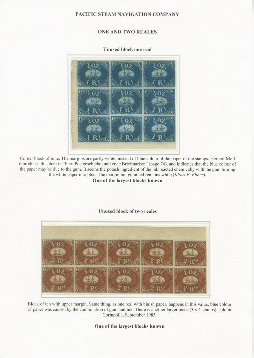 Private Treaty - Peru - Corinphila Auctions | Stamps