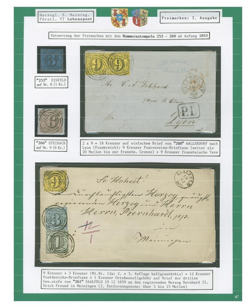 Sachsen-Meinigen: Thüringen als philatelistisches Sammelgebiet • Die Sammlung Heinrich Sanders